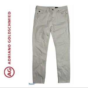AG Adriano Goldschmied White Stevie Ankle Jeans